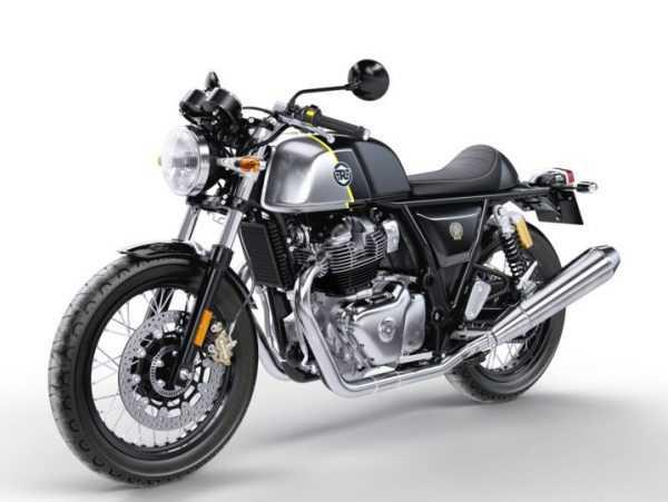 Moto color negro con detalles en plateado marca Royal Enfield modelo Interceptor 650